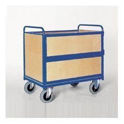 Chariot conteneur bois Grand - destockage