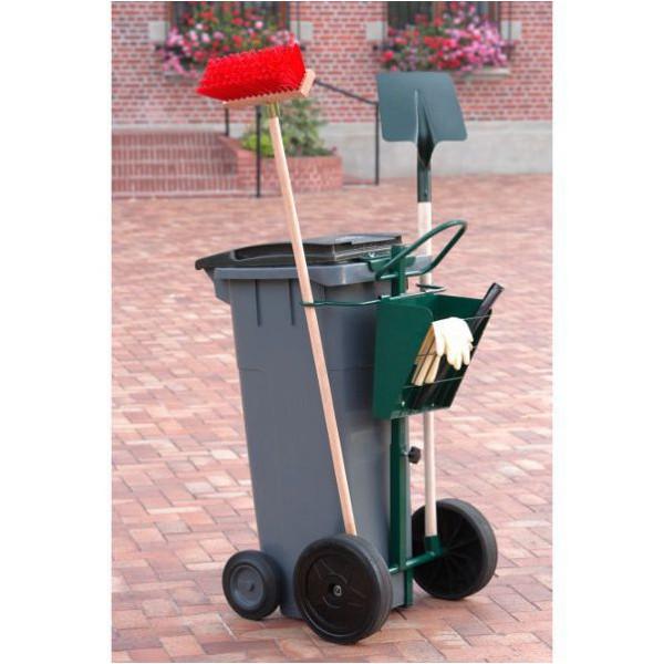 Chariot de voirie pour conteneur poubelle plastique