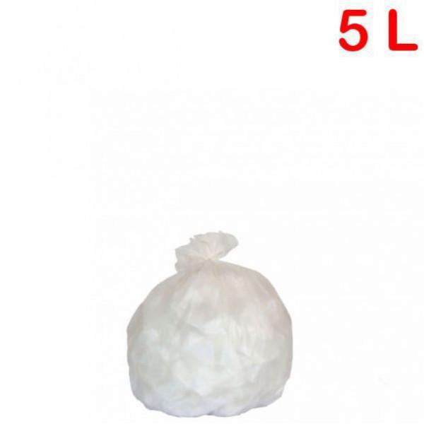 Sac poubelle - déchets légers pour sanitaire 5L