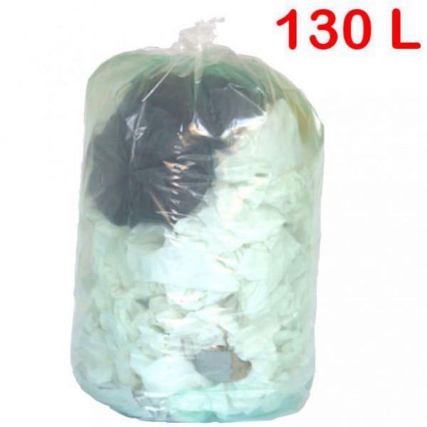 Sac poubelle transparent 130L
