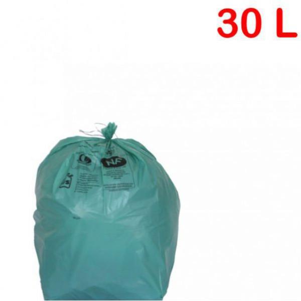 Sac poubelle NFE vert 30L