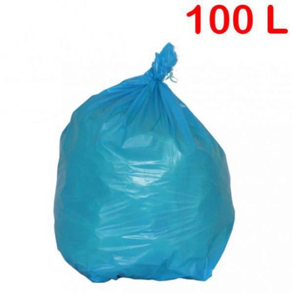 Sac poubelle en couleur pour déchets standards - 100 litres
