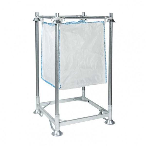 Support big bag avec cadre - tubes 1050 mm