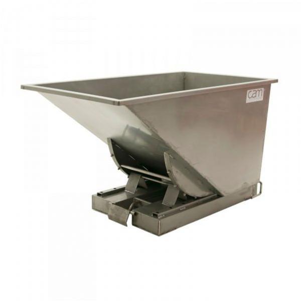 Benne auto-basculante inox 600 litres