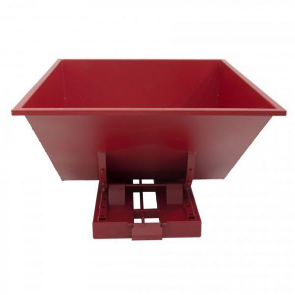 Benne auto-basculante rouge 900 litres