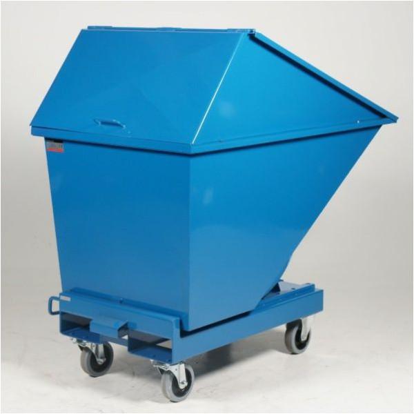Chariot benne avec couvercle haut 200 litres