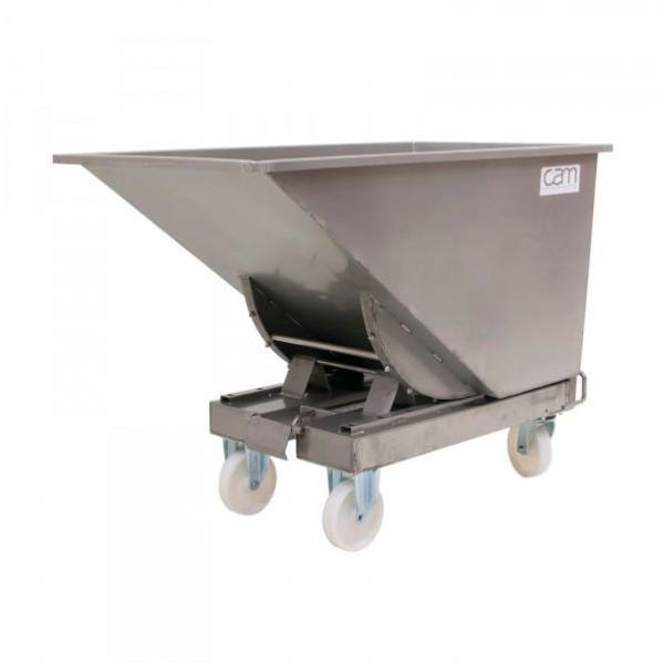 Chariot benne inox 600 litres