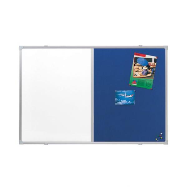 Tableau d'affichage laqué / feutrine bleue