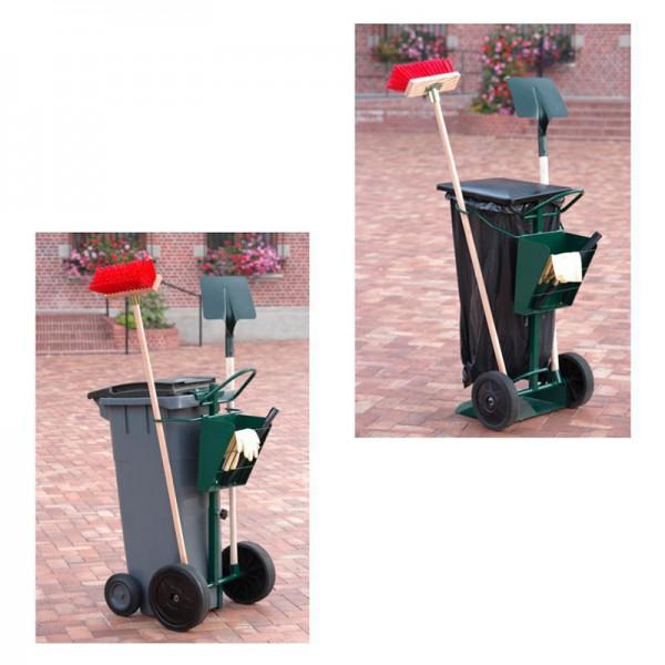 Chariot de voirie pour porte poubelle