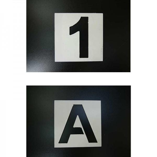 Pochoirs chiffres 0 à 9 et lettres A - Z