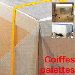 Coiffe palettes plastique en rouleau