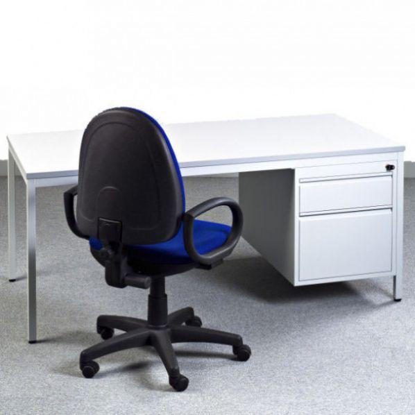 bureau m tallique avec caisson 2 tiroirs roll. Black Bedroom Furniture Sets. Home Design Ideas