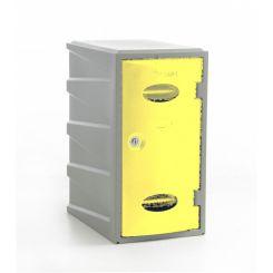 Vestiaire monobloc PE couleur  H 600 mm