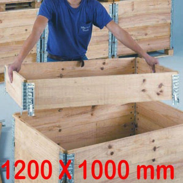 Rehausse pour Palettes en bois P 1000 mm Rolléco fr # Rehausse Palette Bois