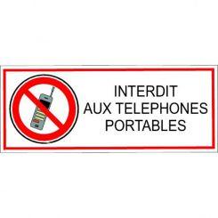 Autocollant interdit aux téléphones portables