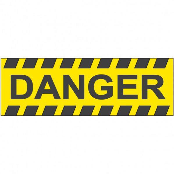 autocollant danger roll. Black Bedroom Furniture Sets. Home Design Ideas
