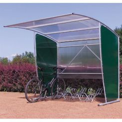 Abri vélos extensible pour 6 vélos fond droit