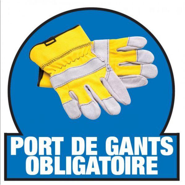 Marquage port de gants obligatoire sol roll - Port de couche obligatoire ...