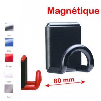 porte manteaux magnétique mural 1 patère couleur - rolléco.fr