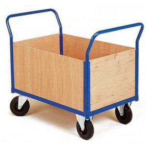 Chariot 4 côtés amovibles bois - 1200 x 760 mm