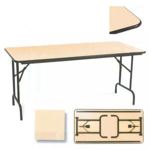 Table pliante rectangulaire chant antichoc