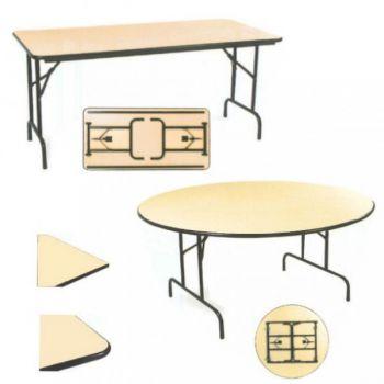 table pliante demi lune chant anti choc roll. Black Bedroom Furniture Sets. Home Design Ideas