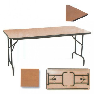Table pliable rectangulaire