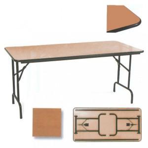 Table pliable rectangulaire chant antichoc