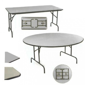 Table repliable demi lune