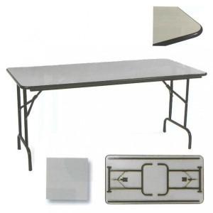 Table repliable rectangulaire chant antichoc