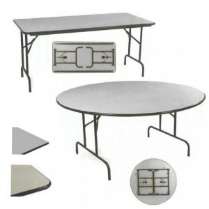 Table repliable demi lune chant anti-choc