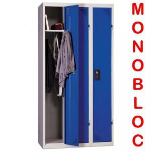 Vestiaire industrie propre monobloc 3 cases
