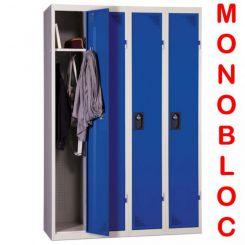 Vestiaire industrie propre monobloc 4 cases