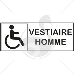 Autocollant vestiaire handicapé pour homme