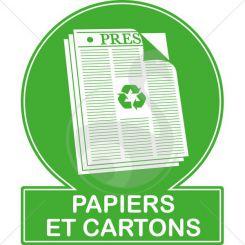 Pictogramme recyclage papiers et cartons