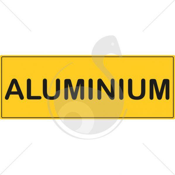 Picto rectangulaire recyclage de l 39 aluminium roll for Aspect de l aluminium