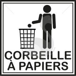Pictogramme corbeille à papiers