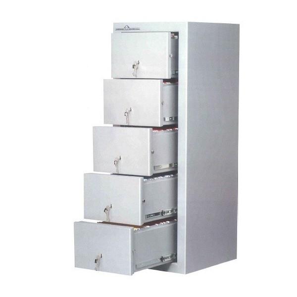Armoire coupe-feu 5 tiroirs