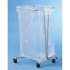 Support sac poubelle sur roulettes 110 litres