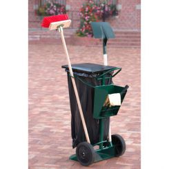 Chariot support sac poubelle 150 litres