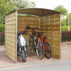 Abri poubelle et vélos