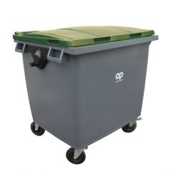Conteneur poubelle bicolore - 1000 litres