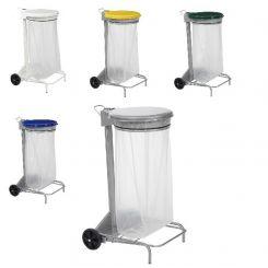 Support mobile à sac poubelle COLLECROULE 110L