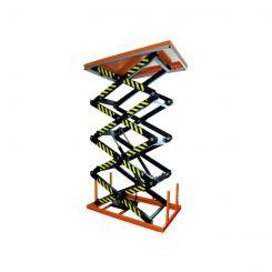 Table élévatrice électrique quatre ciseaux|Niveau constant