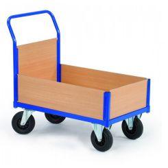 Chariot de manutention 1 dossier à rebords bois
