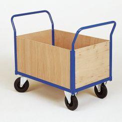 Chariot de manutention 4 cotés bois