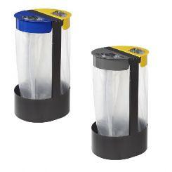 Support à sac poubelle sur pieds 2 flux - Citwin