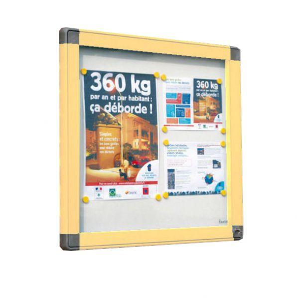 Vitrine ext rieure cadre sable vitrage plexi roll for Plexiglas exterieur