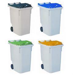 Conteneur poubelle bicolore - 340 litres
