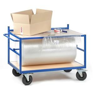 Servante d'emballage avec dérouleur et 2 plateaux